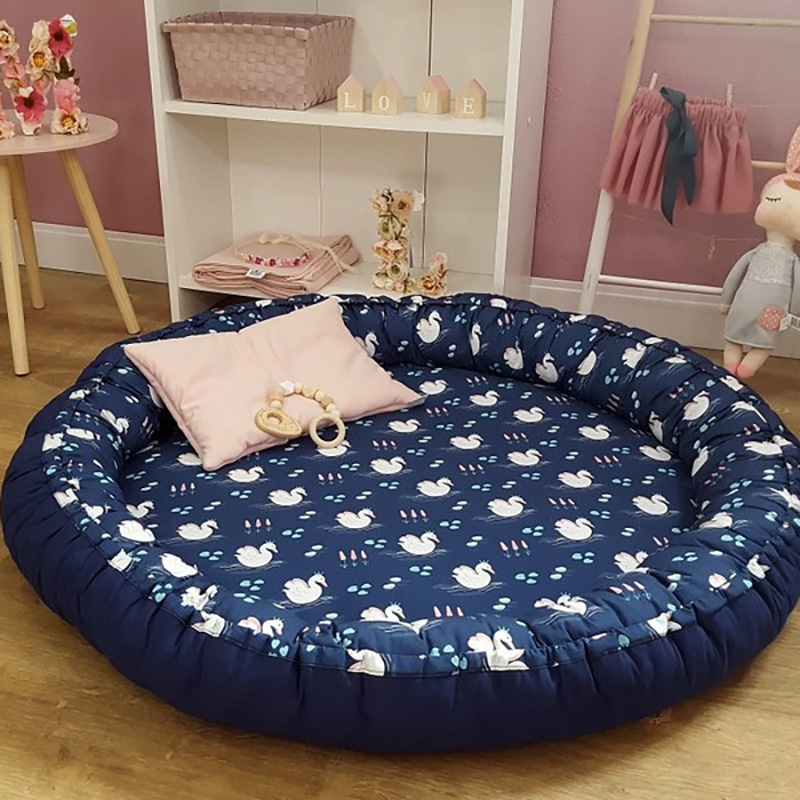 Baby Portable Bed Newborn Play Mat Rug Baby Stuff Kids Activity Double Surface Cot Crib Multifunction Developing Mat BTN029