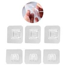 3/5/10 par de ganchos de parede adesivos de dupla face banheiro photo frame titular ganchos de parede adesivo à prova dwaterproof água pendurar ganchos segurar
