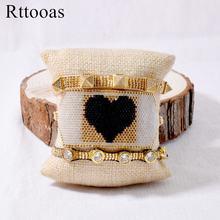 Набор браслетов с подвесками в виде сердца rttooas модные браслеты