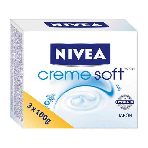 Soap Set Creme Soft Nivea (3 Pcs)