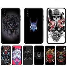 Samurai demônio legal caso de telefone para huawei p9 p10 p20 p30 p40 lite por psmart 2019