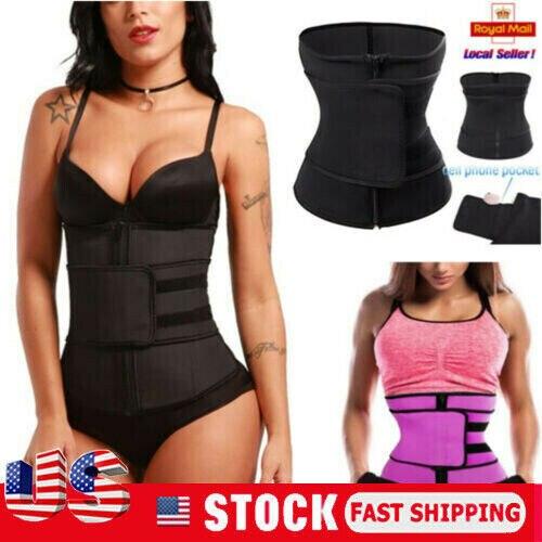 Hiriginr Fashion Tummy Waist Trainer Cincher Sweat Belt Trainer Hot Body Shaper Slim Shapewear Sweat Belt Waist Cincher Trainer 1