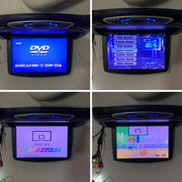 Car Monitor Flip Down DVD Player Car Top Roof Flip Down Slim Overhead Monitor DVD Player with 2 Different Color Covers