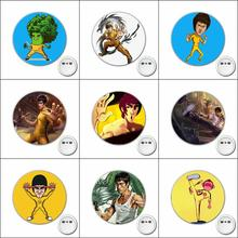 1pcs Chinese Kung Fu stars Cartoon Cosplay Badge Brooch Pins Icons Badge Decoration Badges Button Clothes Accessories