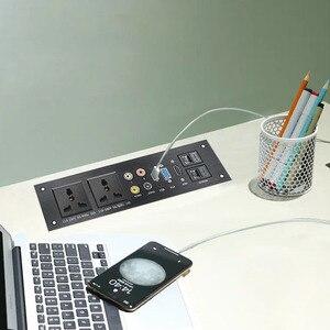 Image 2 - Liga de alumínio multimídia, usb vga, rede hdmi, interface uk/eu/us/cn tomada elétrica placa de energia china plug adaptador