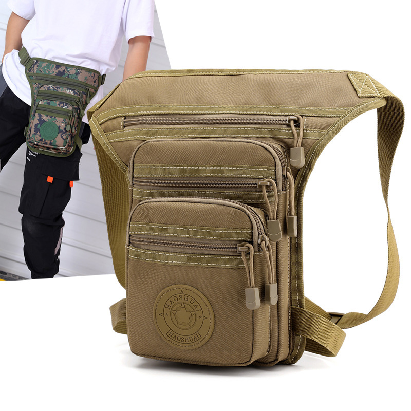 Men Camouflage Nylon Waist Bags Motorcycle Thigh Drop Legsbag Waterproof Belt Bag Casual Fanny Pack Travel Crossbody Bags Male