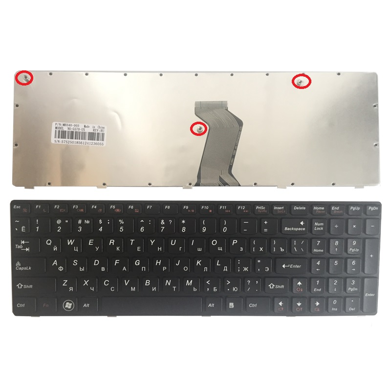 New Russian Keyboard For Lenovo G560 G565 G560A G565A G560E G560L RU Laptop Keyboard