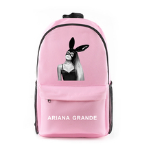 canvas harajuku Shoulder Backpack Ariana Grande Logo Printed Singer with zipper New College