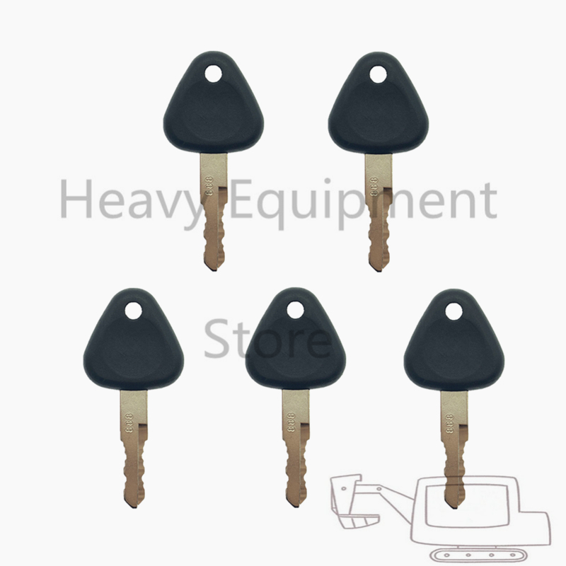 5 PCS 888 Heavy Equipment Key For SDLG SHANDONG LINGONG Excavator Loader     not suitable for volvo Machine Car Key     - title=