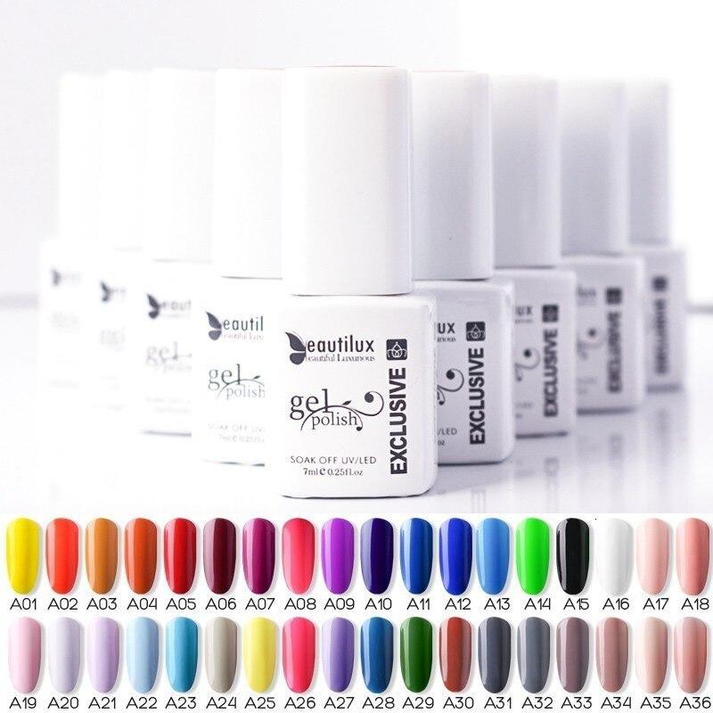 Beautilux Soak Off UV Led Gel Polish Nail Art Gel Varnish Lacquer Gels Smalto Nails Lak Color Enamel Vernis Esmalte Supply 7ml