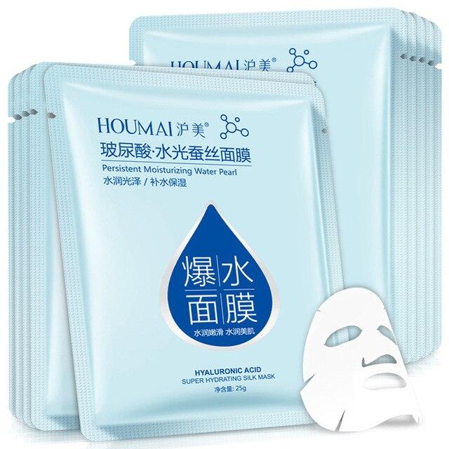 Hyaluronic acid face mask korean sheet mask Moisturizing facial mask skin care corean tony moly makeup  skincare Oil-control 3
