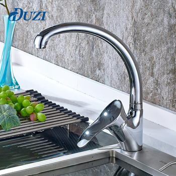 Classic Kitchen Faucet Single Handle Single Hole Kitchen Mixer Tap Hot and Cold Water Sink Deck Mounted Chrome Tap Mixer nickel brushed pull out kitchen faucet sink mixer tap single handle hole deck mounted hot and cold water
