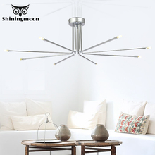 Post-modern Silvery Led Chandelier Lighting Nordic Bedroom Crystal Chandeliers Living Room Luxury Hanging Lamp Studio Fixtures