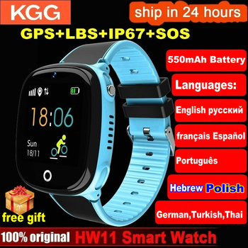 HW11 Smart Watch Kids GPS Bluetooth Pedometer Positioning IP67 Waterproof Watch For Children Safe Smart Wristband Android IOS