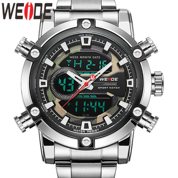WEIDE Watch Men New European Luxury Men Sports Business Quartz Movement Analogue LCD Digital Calendar Multiple Time Men Watch 1children time sports watch leisure new 5per ytl0815 ttb01