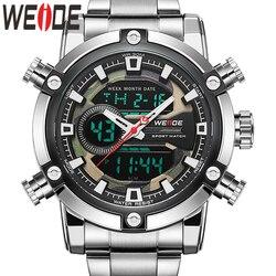 WEIDE zegarek mężczyźni nowe europejskie luksusowe mężczyźni sport biznes kwarcowy analogowy LCD cyfrowy kalendarz wielu czas mężczyźni oglądać