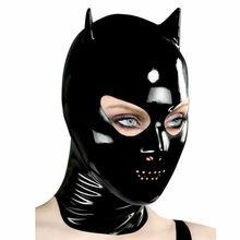 Фетиш латекса каучука комбинезон маскарадный костюм пикантные вечерние горячая Распродажа пользовательские капюшон