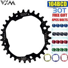 VXM Bicycle 30T Chainring 104bcd Mountain Bike Chain ring Narrow Wide MTB Single Speed Bicycle Chainwheel Colored Bike Bolts 1pcs black fouriers bicycle single chain ring p c d 104mm 30t 40t 4mm bike chainrings narrow wide teeth