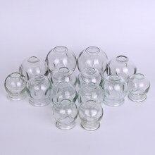 6 Pcs Ventosas Massagem Dispositivo de Terapia de Massagem Taças Cupping Terapia Cupping Set Cupping Vidro Fogo Escavação De Vidro FREESHIPPING