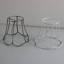 3 шт. диаметр 13 см железо обрамление фары кольцевая лампа абажур DIY абажур проволочная рама, зажим на
