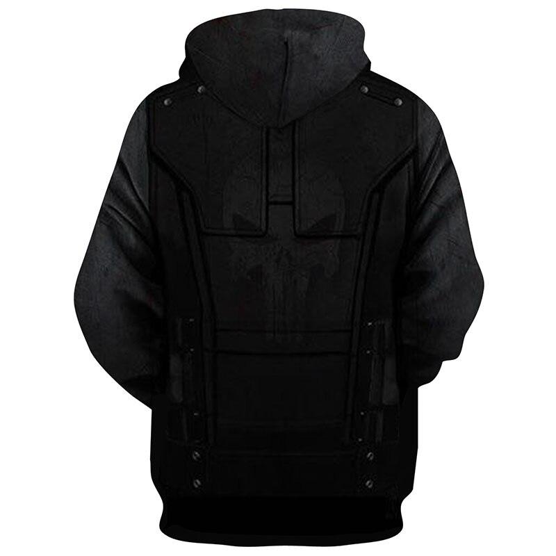Image 2 - The Punisher Cosplay Hoodie Sweatshirts Mens Male 3d Print Fashion Cool Hip Hop Hooded Jacket Coats Streetwear-in Hoodies & Sweatshirts from Men's Clothing