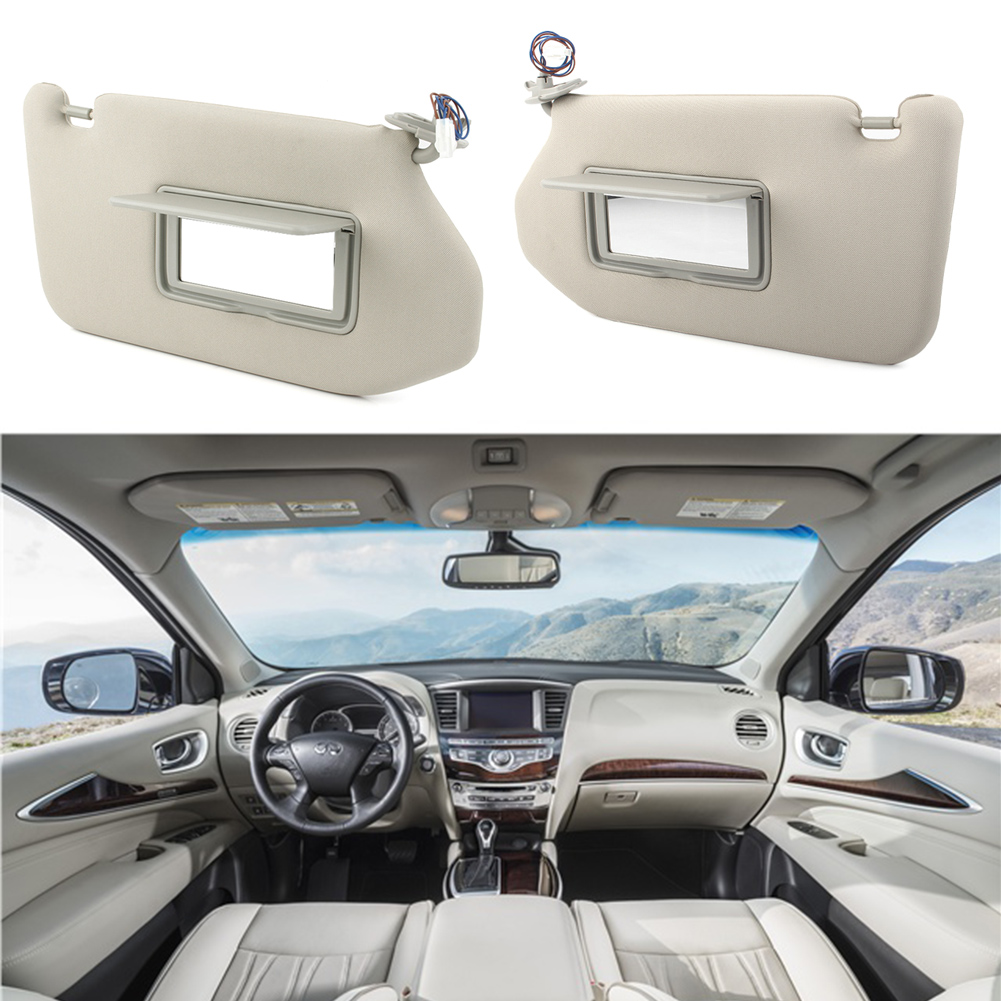 2Pcs/Set Car Sunshade Shield Gray Sun Visor For Nissan Pathfinder 2013-2018 & For <font><b>Infiniti</b></font> <font><b>QX60</b></font> 2014 2015 2016 2017 & <font><b>JX35</b></font> 2013 image