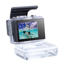 Applicable to GoPro 4 3+ 3 LCD BacPac Monitor Professional Display + Waterproof Case Rear Door Cover Accessories