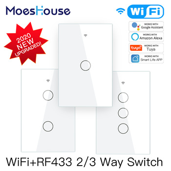 Smart Glass Panel Switch Life/Tuya App Multi-Control Association, Voice Control with Alexa,Google Home,1/2/3 Gang - discount item  40% OFF Electrical Equipment & Supplies