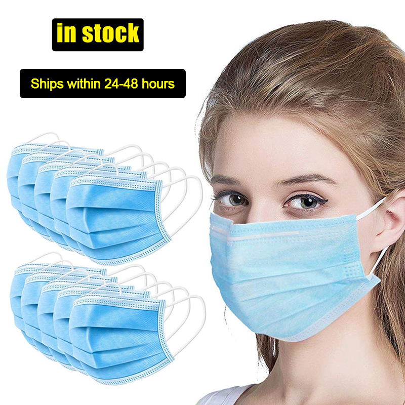100pcs Anti-Dust Dustproof Disposable Earloop Face Mouth Masks Facial Protective Cover Masks