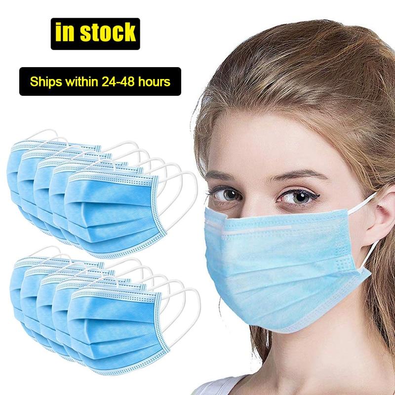 100pcs Anti-Dust Dustproof Disposable Earloop Face Mouth Masks Facial Protective Cover Masks