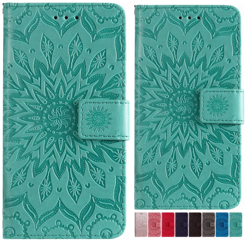 Mandala Lady Leather Wallet For Oneplus 8 Pro One plus 7 Pro 6 6T 1+8 1+6 1+5 Solid Color Phone Case Flip Cover Funda P06F