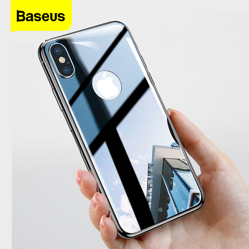 Baseus 4D Silk Screen Back Film For iPhone X 0.3mm Ultra Thin Full Coverage Back Tempered Glass Screen Protector For iPhone X|tempered glass screen protector|glass screen protector|screen protector - title=
