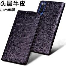 Luxury Genuine Leather Flip For Xiaomi Mi 9 MI9 SE Half Pack Phone Case redmi K20 pro Cases Shockproof