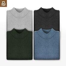 2019 youpin DSDO חצי גבוה צווארון סוודר מכונת רחיץ חם לנשימה עור ידידותי בסיסי השפל חולצה לגבר