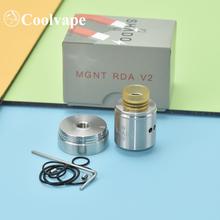 MGNT V2 RDA Atomizer pojedyncza podwójna cewka rda elektroniczne papierosy rda 316ss 24mm zbiornik vs upuść martwy rda 24mm RDA tanie tanio WOLF COOLVAPE CN (pochodzenie) Metal Wymienny