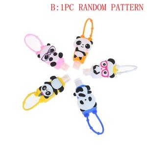 Image 5 - Portable cute cartoon Silicone Owl/Panda/Santa Claus Mini Hand Sanitizer Disposable No Clean Detachable Cover christmas gift