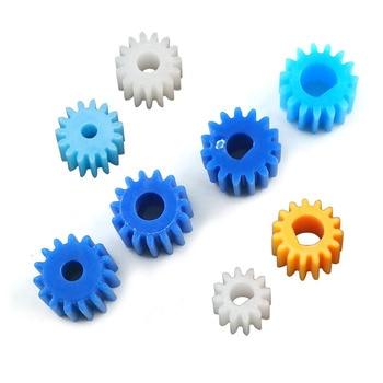 15 Teeth 8.5mm Diameter D-shape Hole Blue Plastic Gear 15T Motor Retarding Device Main Shaft Gears 3/ 4/ 2.3/ 3.17mm 10pcs/lot - sale item Hardware