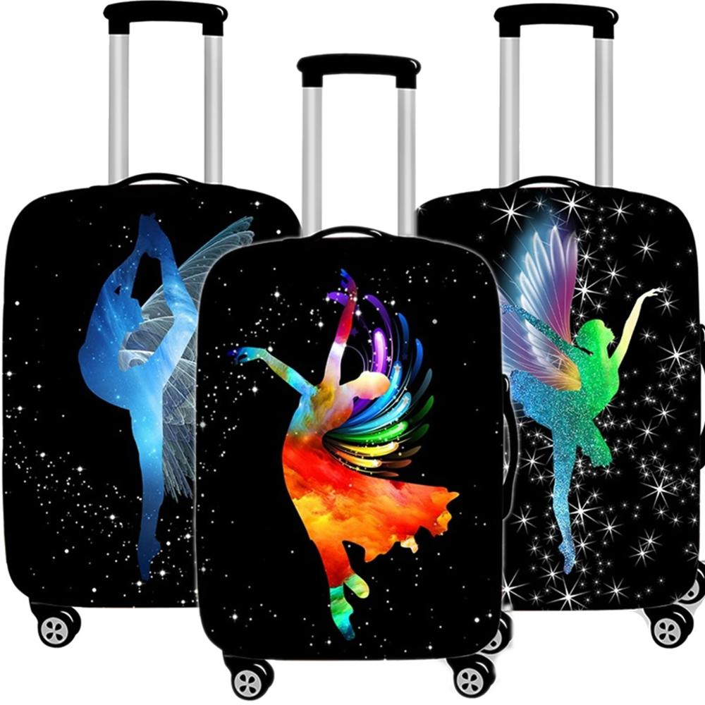 Creative Ballet Girl Suitcase Case Protective Cover Travel Luggage Thicken Dust Accessories Suitcases Organizer 18 To 32 Inch