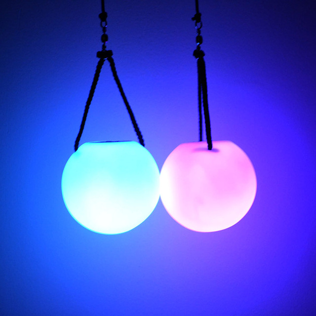 Enfants drôle jouets 2 pièces multicolore LED lueur jeté balles jouets jonglage Fitness jeté balles balle main accessoire adulte drôle jouet