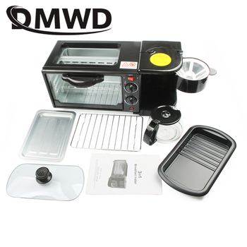 DMWD Electric 3 in 1 Breakfast Machine Multifunction Mini Drip American Coffee Maker Pizza Oven Egg Omelette Frying Pan Toaster 6
