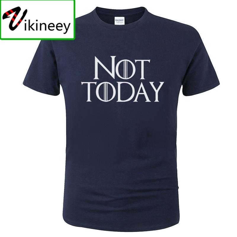 Camiseta Not Today, camiseta de verano para hombre, a la moda Camiseta de algodón de manga corta con estampado Harajuku, camiseta para hombre