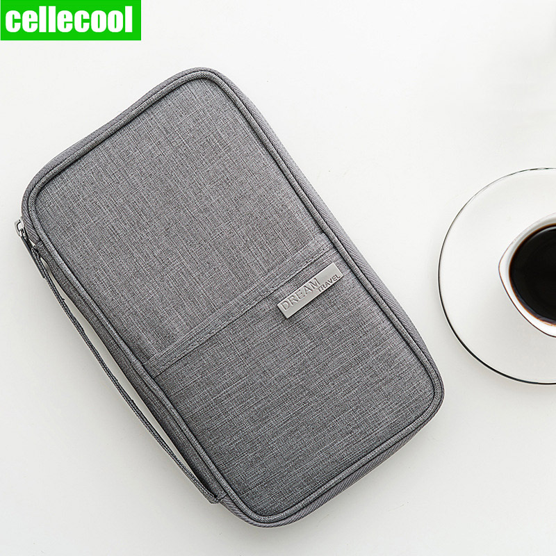 New Multi-Function Passport Travel Wallet Passport Holder Credit Card Package ID Document Multi-Card Storage Pack Clutch