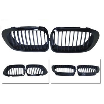 A Pair Of Matte Black Car Intake Grille Meshes Grille For Bmw E46 Coupe 2-Door 1999-2002 image