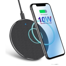 10W Qi Wireless Charger For iPhone 11 X/XS Max XR 8 Plus Quick Charge 3.0 Fast Wireless Charging Pad For Samsung S9 S10 Note 9 8