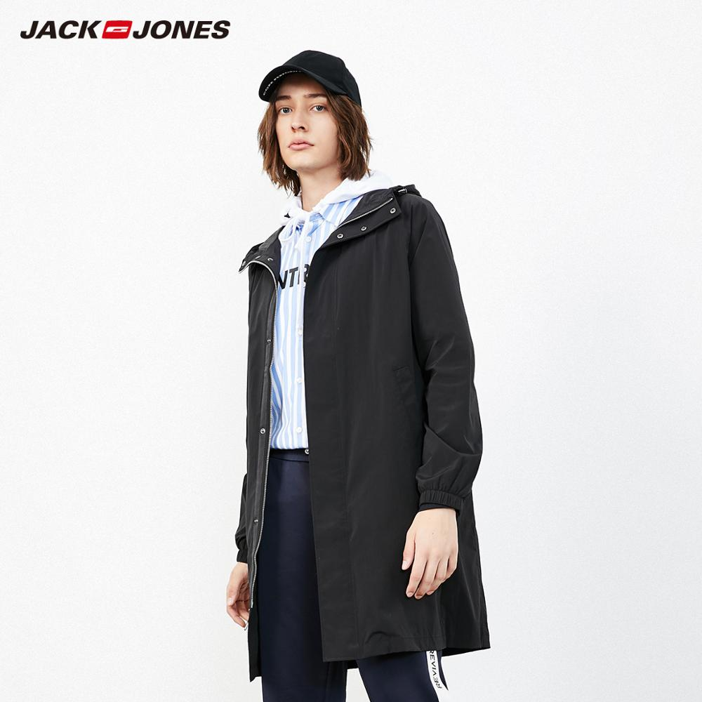 JackJones Men's Style Waterproof Pure Color Trench Coat Menswear| 219121506