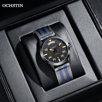 Modern Men's Watches 2020 Pilot Automatic Mechanical Wristwatch Military Luxury OCHSTIN Date Week Double Display Gifts For Male 3