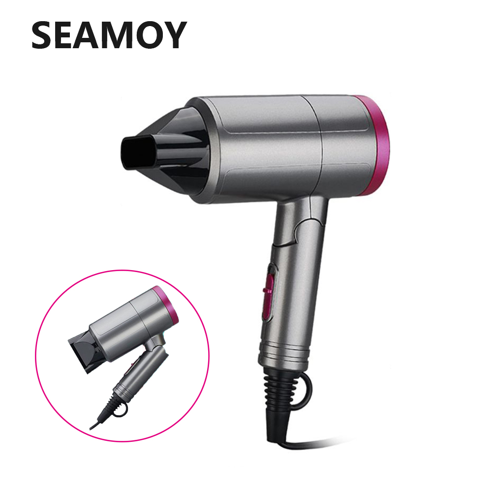 110V 220V 100V Professional Hair Dryer Foldable Hairdryer Quick Dry Folding Handle Hairdressing Barber Blow Dryer EU/JP/US Plug