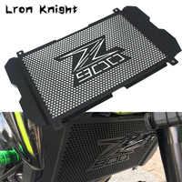 Para kawasaki z900 z 900 2017 2018 2019 acessórios da motocicleta grade de radiador guarda capa proteção aço inoxidável protetor