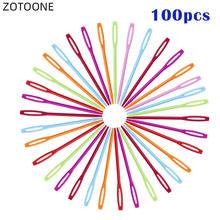 100 шт/лот пластиковые спицы для свитера 7 см крючки вязания