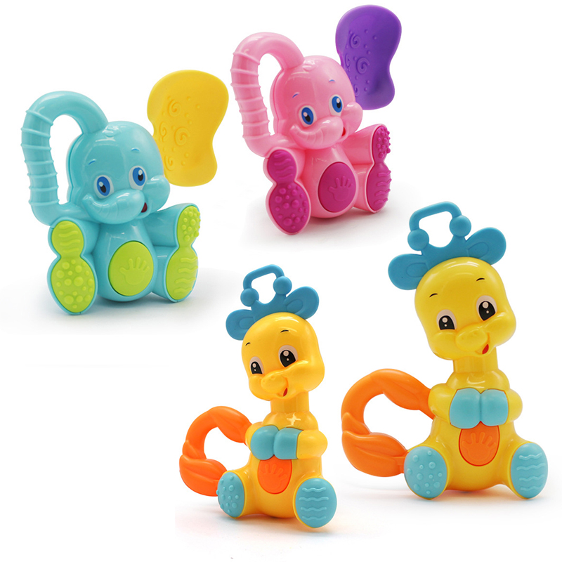 1Pcs Baby Rattles Plastic Hand Jingle Shaking Bell Rattles Toys Newborn Teether Baby Toy Rattles Toys For Newborns Children